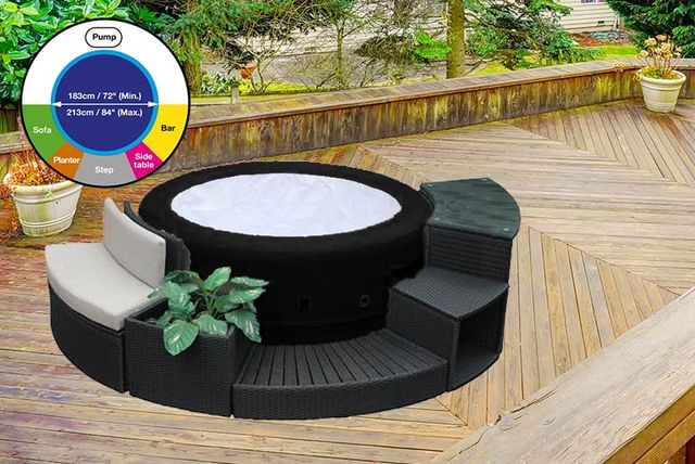inflatable hot tub suite shop wowcher. Black Bedroom Furniture Sets. Home Design Ideas