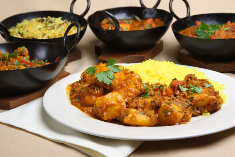 £12 for an Indian meal for 2 including a main course and rice or naan plus a coffee each, £23 for 4 people at Moza HQ, Swadlincote - save up to 45%