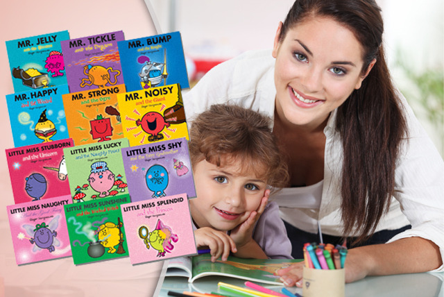 £7.99 instead of £17.94 (from Kids IQ Books) for 6 Mr Men or Little Miss Glitter books or £14.99 for all 12 - save up to 55%