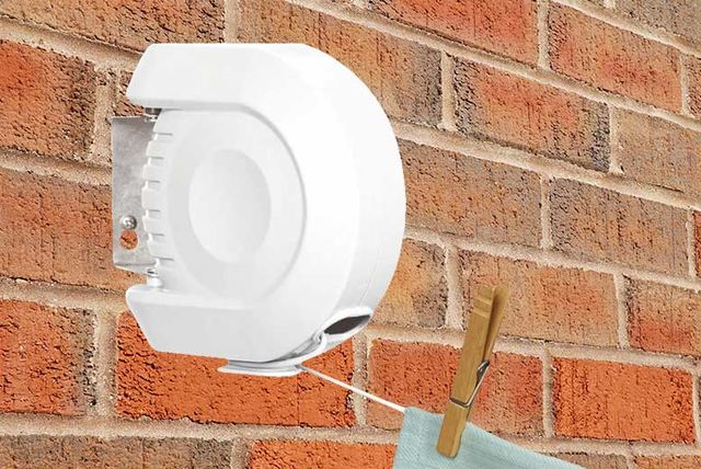 12m retractable wall mounted washing line