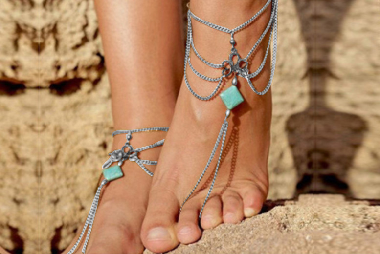£4.99 instead of £19 (from Styled By) for a boho ankle chain  save 74