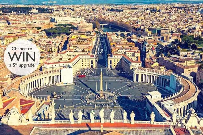 2-3nt Romantic Rome, Breakfast & Flights - Win 5* upgrade!