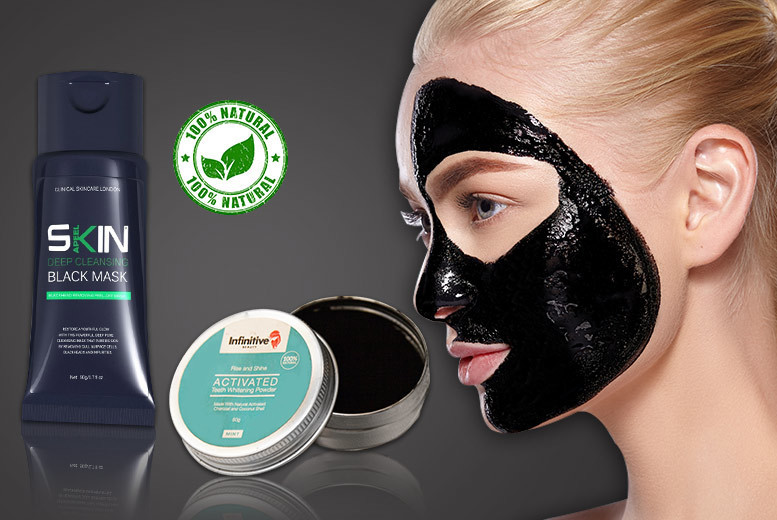 £5.99 instead of £59.98 (from Forever Cosmetics) for a blackhead face mask and charcoal teeth whitening powder - save 90%