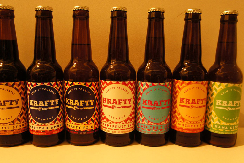 £99 instead of £200 for a 'Brew it Yourself' workshop including 150 bottles of your own brewed beer from Krafty Brew, Edinburgh  - save 50%