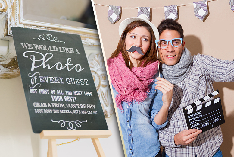 £175 instead of £350 for 2 hours of photobooth hire including 'unlimited' prints, booth attendants, props, digital downloads and more from Bliss Booth - save 50%