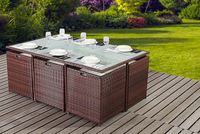 4 Or 6 Seat Rattan Garden Furniture Set