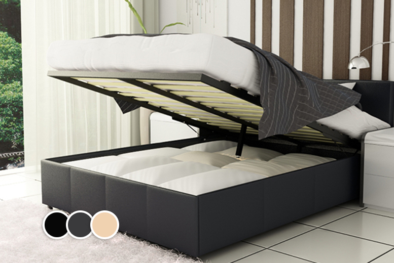 Wowcher deal 269 for a double ottoman storage bed with a memory foam mattress and seven Bed and mattress deals