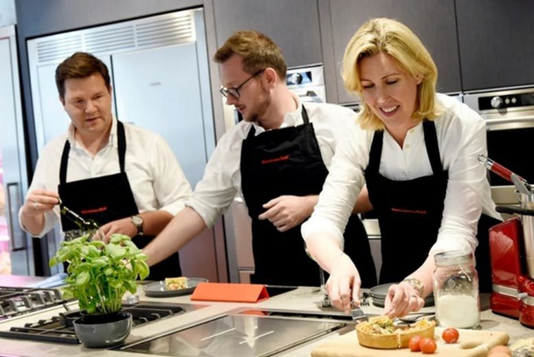 £44 for a cooking class for one, £87.95 for two at KitchenAid, Marylebone - save up to 56%