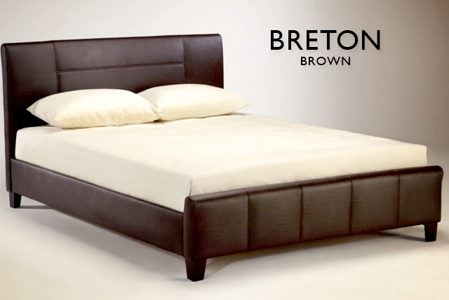 From £179 for a Breton faux leather bed with Bedmaster mattress or from £199 for a luxury Calabria bed with Bedmaster mattress