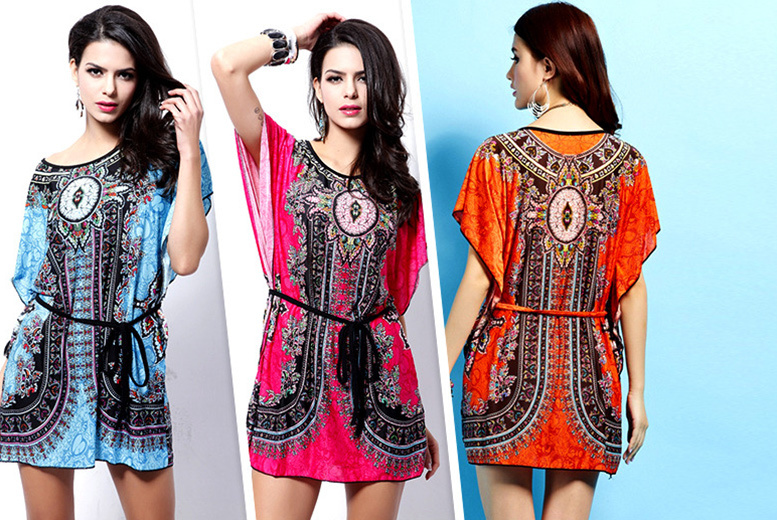 £7.99 (from Alvi's Fashion) for a paisley 'batwing' kaftan - choose from 3 colours & save 82%