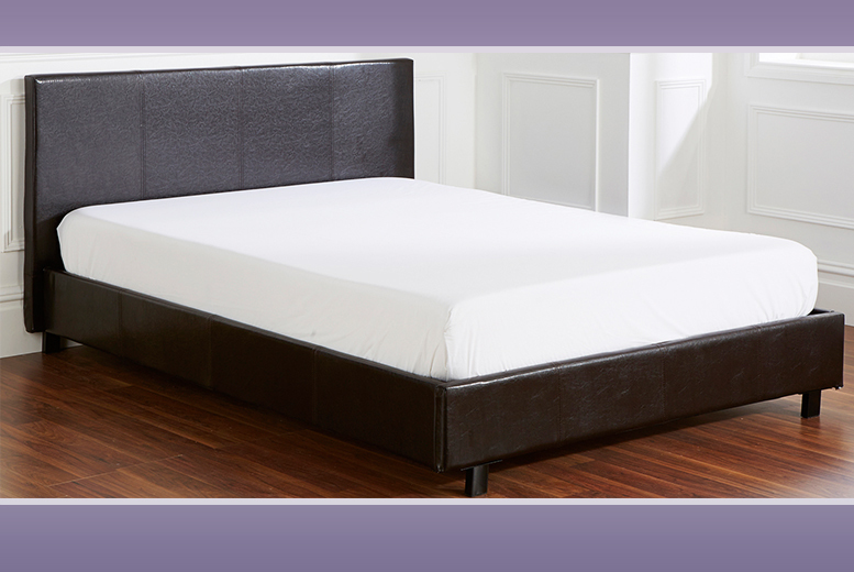 Wowcher Deal Wowcher 129 For A Single Faux Leather Bed And Mattress 159 For A Small