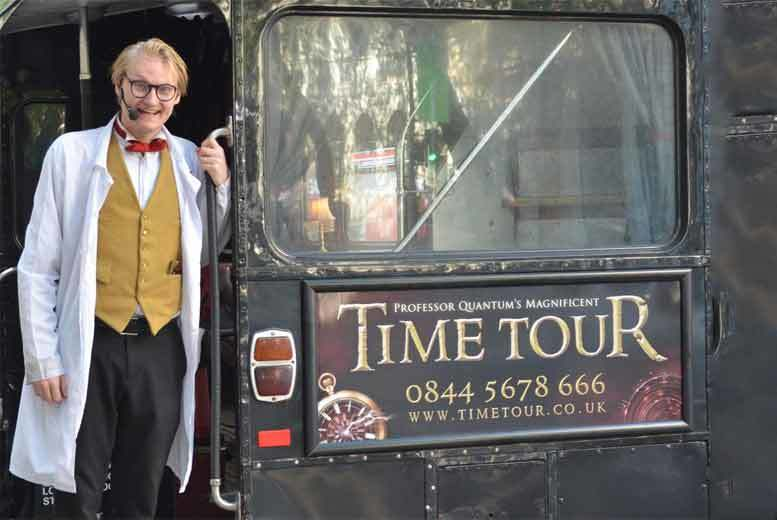£9 for a child's ticket, £12 for an adult ticket to 'Professor Quantum's Magnificent Time Tour' from The London Time Tours - see the sights of London and save up to 50%