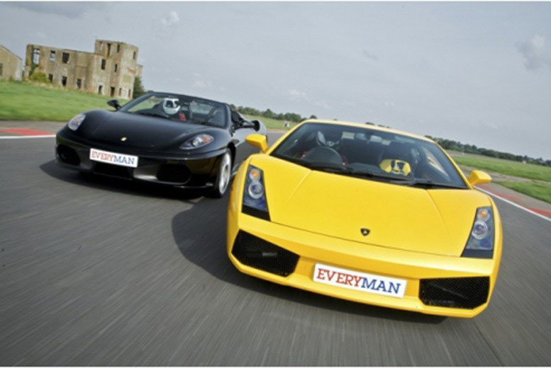 £39 for a supercar driving experience with one car, £59 for two cars, £79 for three or £99 for four at Everyman Racing