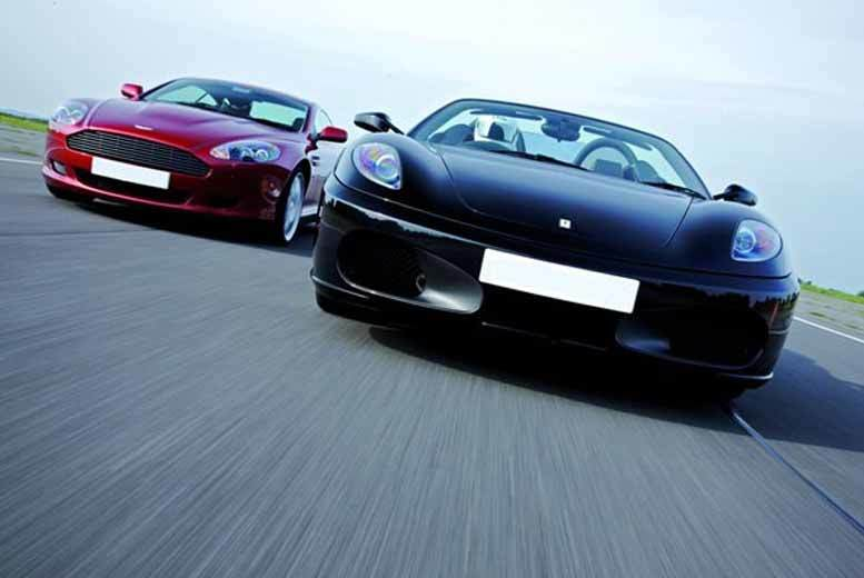 £59 for a double supercar driving blast experience at 31 UK locations from Buyagift - drive a Porsche, Lamborghini or Ferrari!