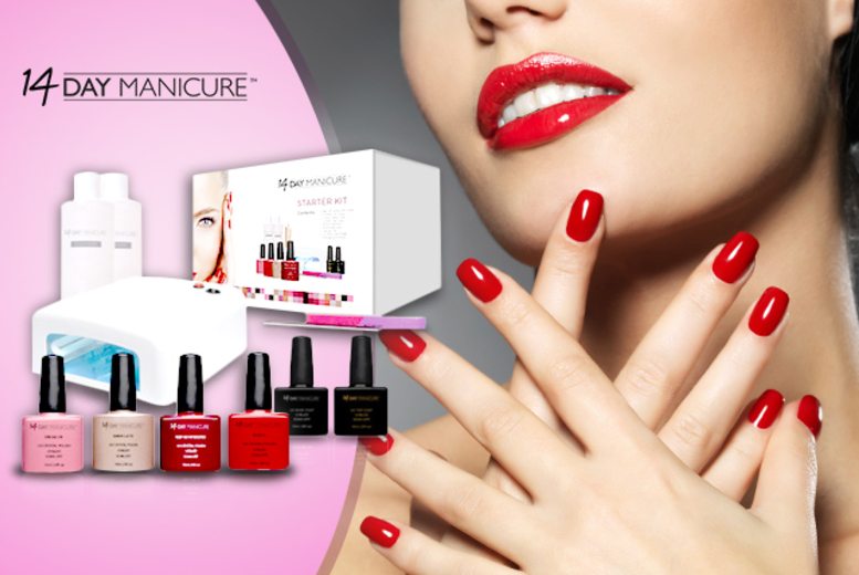 £54 (from 14 Day Manicure) for a 12-piece luxury home gel manicure starter kit including 4 polishes, £64 to include 6 polishes or £74 to include 8 - save up to 76%