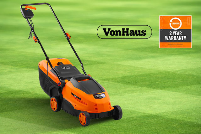 vonhaus electric rotary lawnmower