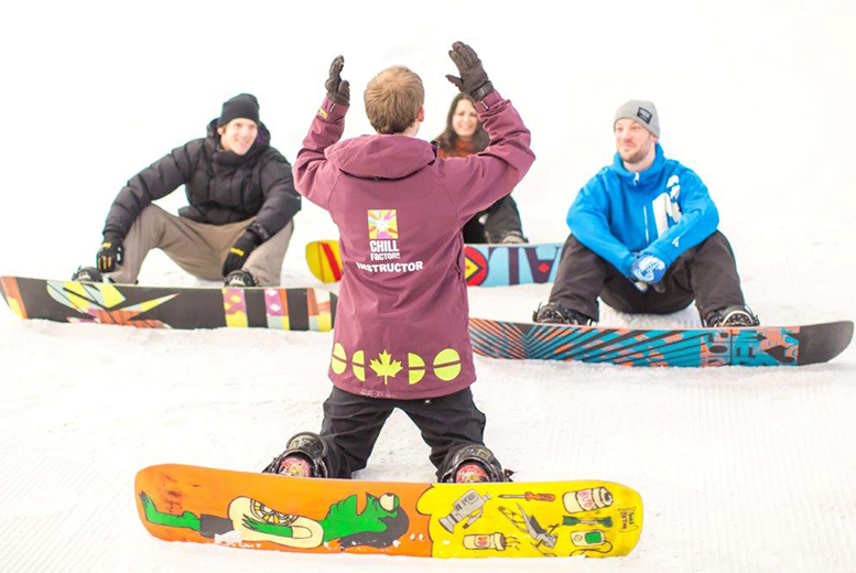 £29 instead of £65 for a 1hr 50min beginners' ski or snowboard lesson for one or £56 for two people at Chill Factore, Manchester - save up to 55%