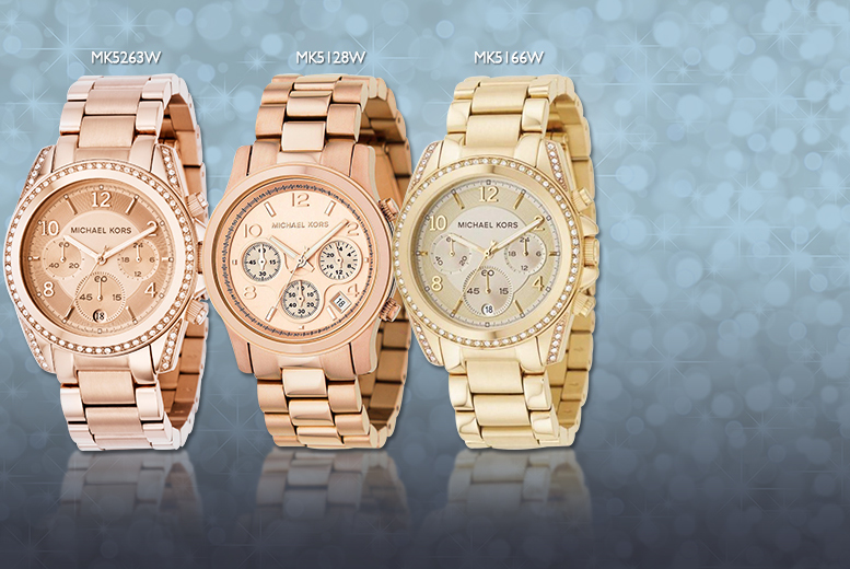 From £129 (from Designs by Daisy) for a ladies' Michael Kors watch - choose from 6 designs and save up to 44%