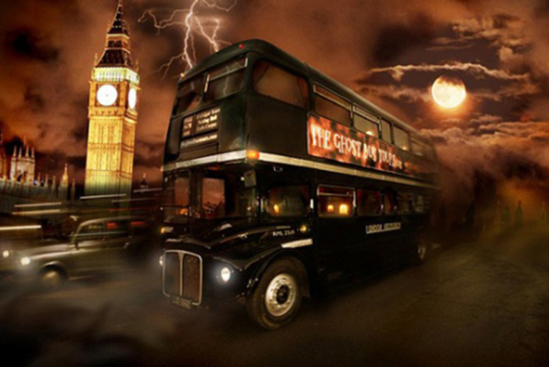 £12.50 instead of £25 for a London Ghost Bus Tour including guidebook with 365 Tickets - save 50%