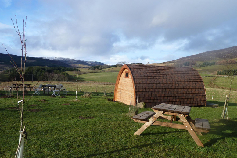 From £49 for a two-night luxury glamping break for five people,  up to £129 for up to ten at Ecocamp Glenshee - save up to 55%