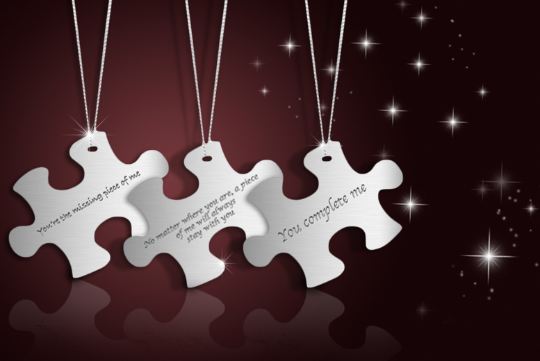 £10 instead of £69.99 (from British Gem) for a sterling silver puzzle quote necklace, £18 for 2 - save up to 86%