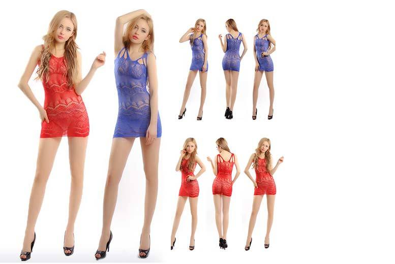 £7.99 instead of £19.99 for sexy mini-dress lingerie in red or blue from GameChanger Associates - save 60%