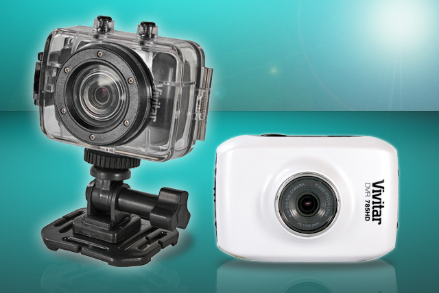 £74.99 instead of £98.94 for a touchscreen Vivitar HD Digital Action Camera from Sonic UK - record underwater, on your helmet or bike and save 24%