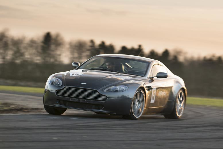 £69 instead of £139 for a 14-lap Aston Martin V8 Vantage supercar experience with Drift Limits, Hemel Hempstead - save up to 50%