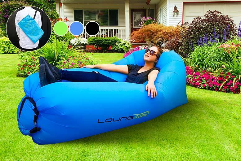 £19 instead of £45 (from Direct2Public) for an XL Loungair inflatable lounger - choose from three colours and save 58%