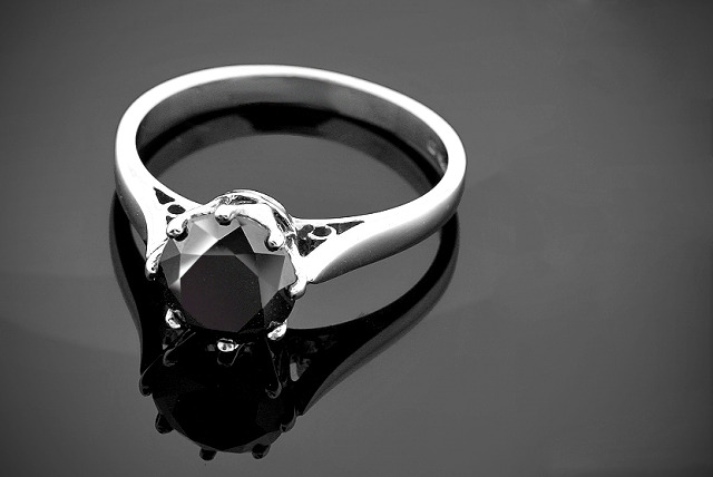 £99.99 (from Oodlebee) for a 1 carat black diamond ring set in sterling silver