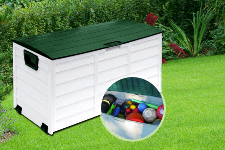 £34.99 instead of £129.98 for a 250-litre weatherproof garden storage chest from Wowcher Direct - clean up and save 73%
