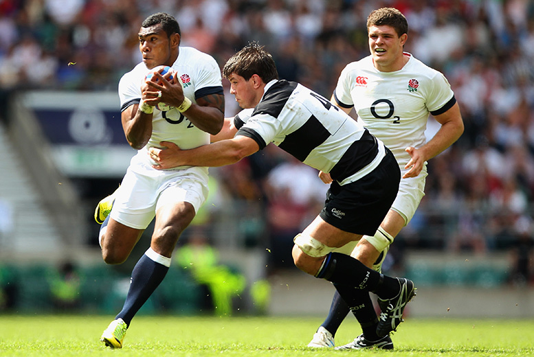 £15 for 2 junior tickets to England XV vs. Barbarians on Sunday 31st May 2015, £35 for 2 adult lower price tickets or £50 for 2 adult higher price tickets - save 50%