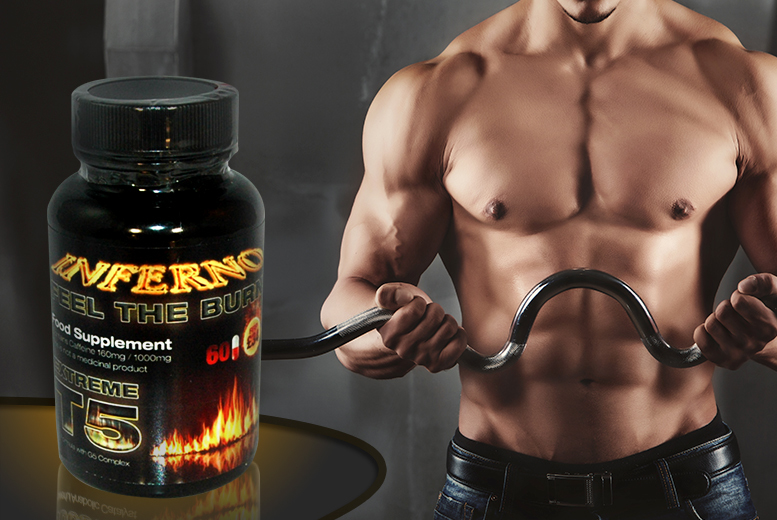 £8 instead of £34 (from Ultra Supplements) for a 1-month* supply of Extreme T5 Inferno 'fat burner' - save 76% + DELIVERY INCLUDED!