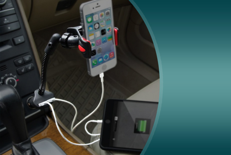 £9.99 instead of £46.01 (from Aven Republic) for a dual USB in-car phone mount - stay charged and save 78%