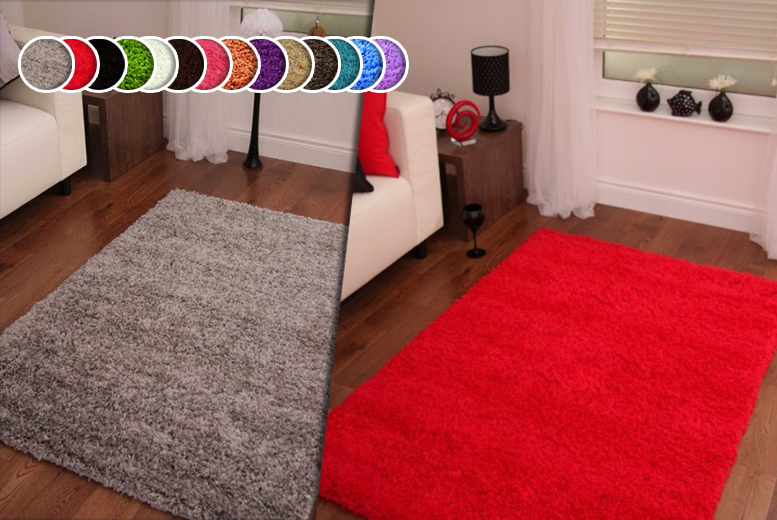 £10 (from Your Essential Store) for a 60cm x 110cm shaggy rug, £20 for 80cm x 150cm, £24 for 60cm x 220cm or £30 for 120cm x 160cm - save up to 67%