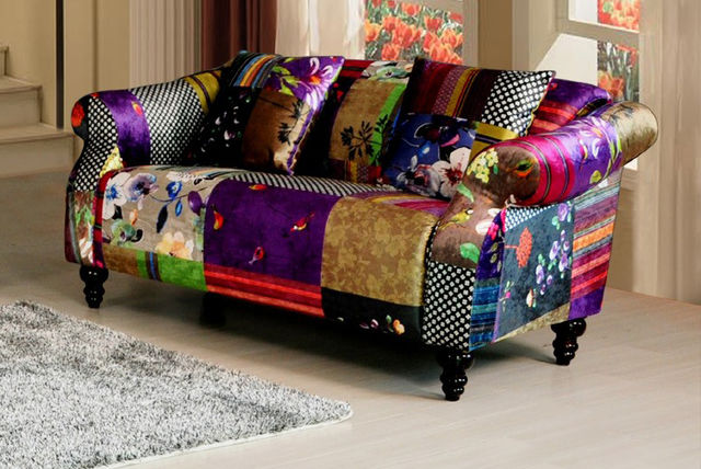 Luxury patchwork sofa shop wowcher for Sofa patchwork