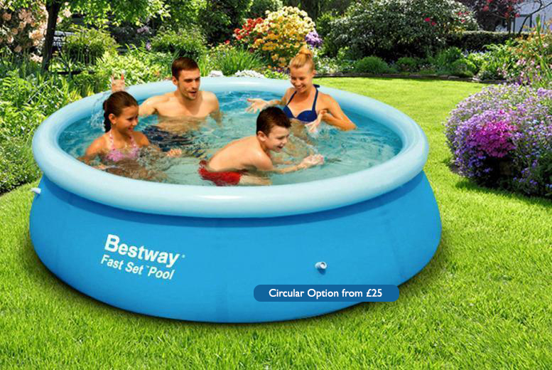 From £18 instead of £59.99 (from Direct2Publik) for a rectangular family garden pool, from £25 for a circular pool - save up to 70%