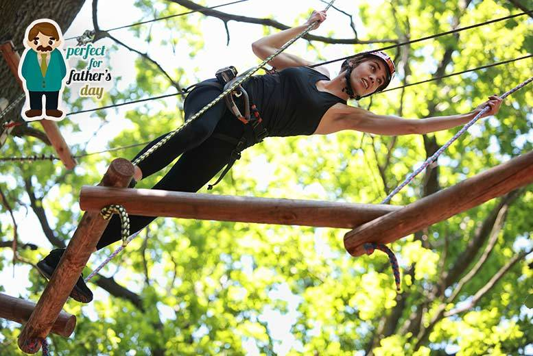 From £10 for a high ropes adventure experience with Aerial Extreme - pick from five locations and save up to 52%