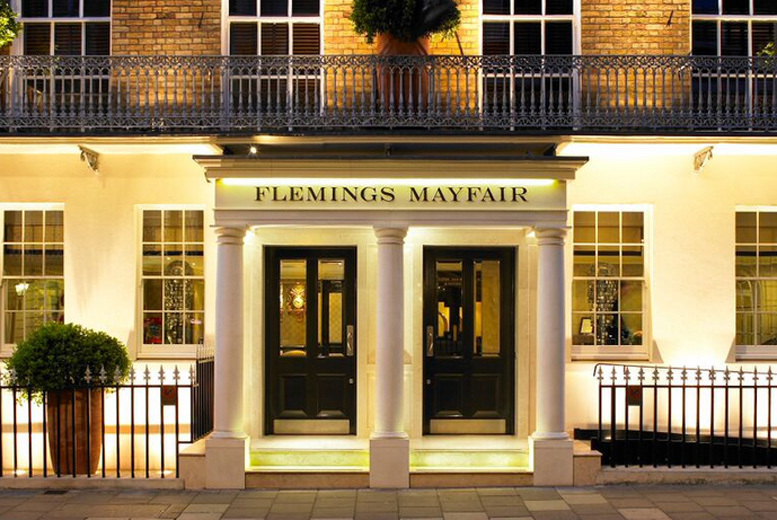 £38 instead of up to £83 for a two-course meal for two including a glass of wine each at the Grill Restaurant @ 4* Flemings Hotel, Mayfair - save up to 54%