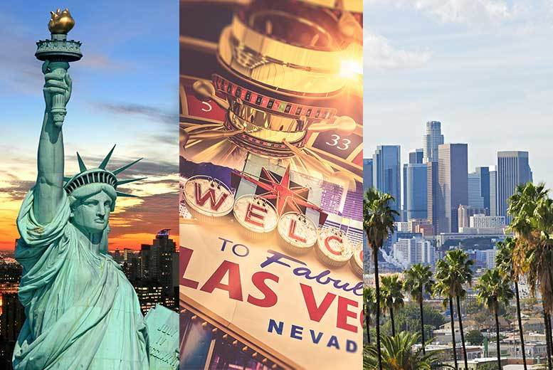 DDDeals - From £799pp (from Crystal Travel) for an eight-night trip to the USA, including three nights in New York, three nights in Vegas and two nights in LA, with flights or pay a £250pp deposit today - save up to 42%