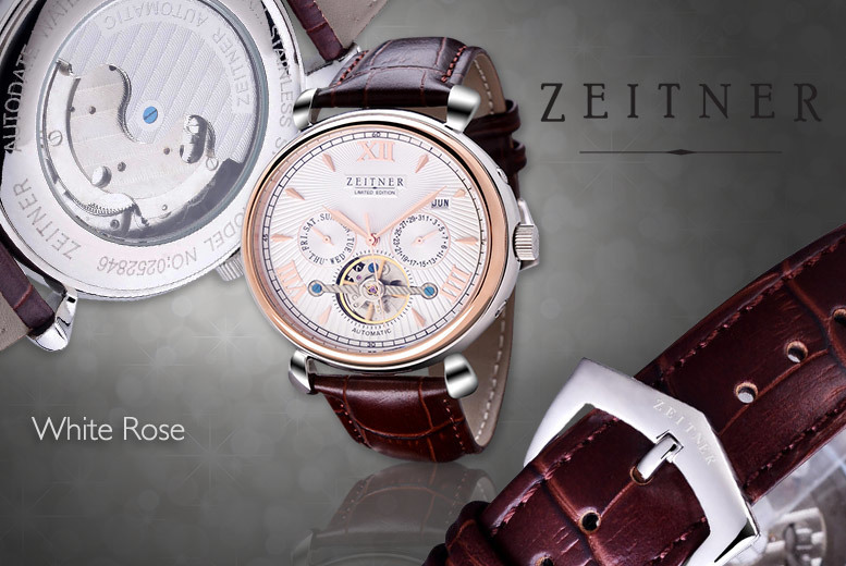 £149 instead of up to £621.05 (from Zeitner) for a men's Zeitner automatic watch - choose from four designs and save up to 76%