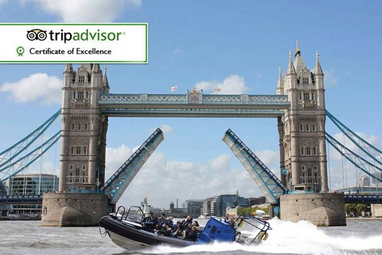 £17 for a 25-minute boat thrill ride dash tour along the Thames for one person or £27 for a 50-minute ride with RIB Tours London, South Bank - save up to 15%