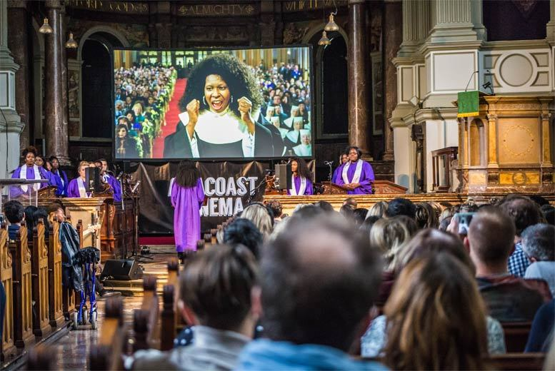 From £16 for a ticket to an immersive film screening of 'Sister Act' accompanied by a live choir at Central Hall Westminster with Amacoast Cinema - save up to 41%