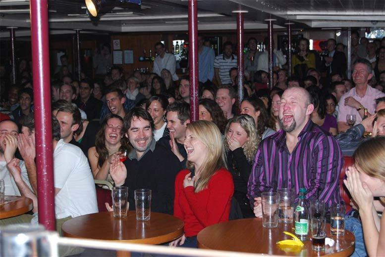 From £6 for live comedy for two people with club entry at The Boat Show Comedy Club - enjoy top laughs on the Thames and save up to 50%