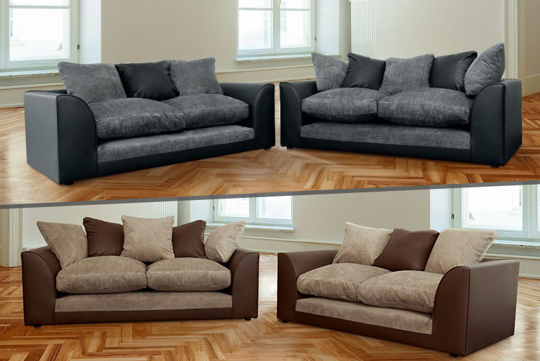 £349 instead of £899 (from Abakus Direct) for a Dylan two and three-seater sofa set - stay comfy & save up to 61%