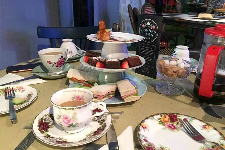 DDDeals - £10 for a Mad Hatter 'untraditional afternoon tea' for two people, £19 for four at Wonderland Café, Nottingham - save 33%
