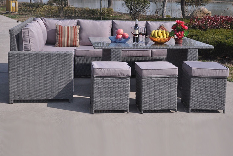 £509 instead of £970 (from Dreams Outdoors) for a nine-seater rattan dining sofa set - save 48%