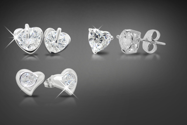 £9 instead of £40 (from Cian Jewels) for a pair of Swarovski Elements heart, stud earrings – choose from 3 styles and save 78%