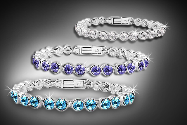 £10 instead of £59 (from Illuminata Jewels) for a white gold overlay tennis bracelet encrusted with Swarovski crystals available in 6 colours - save 83%