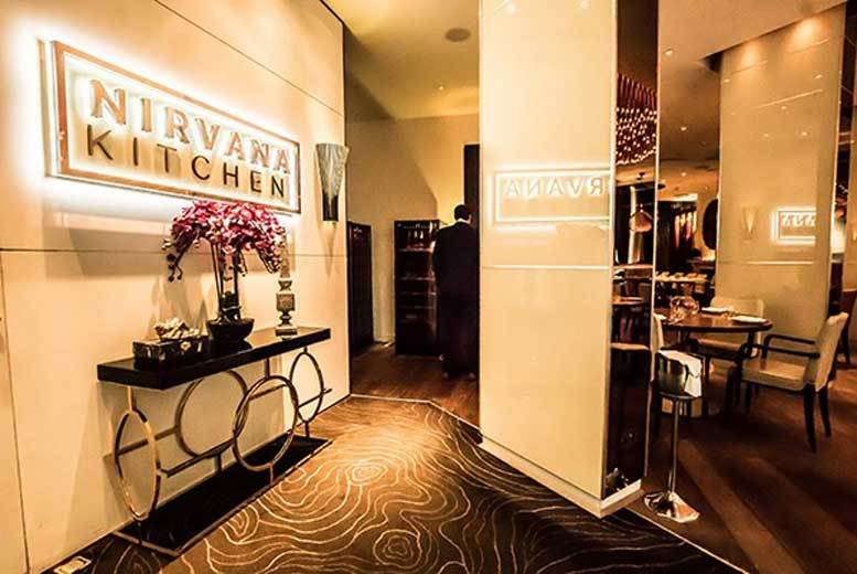£69 for a for a 6-course luxury tasting menu for 2 with a bottle of Champagne at Nirvana Kitchen at 5* Montcalm Hotel from Buyagift!